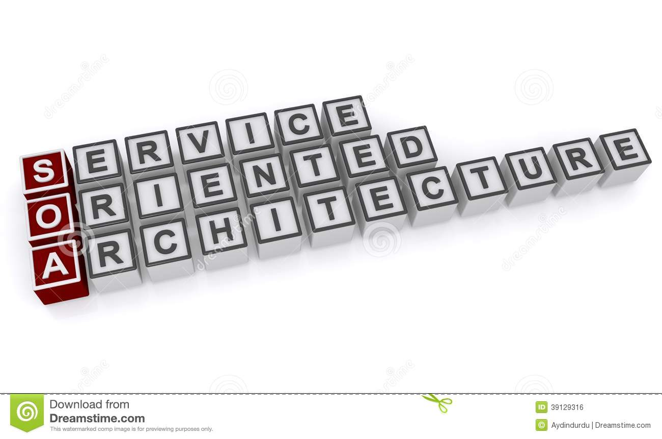Service Oriented Architecture Stock Illustration Image