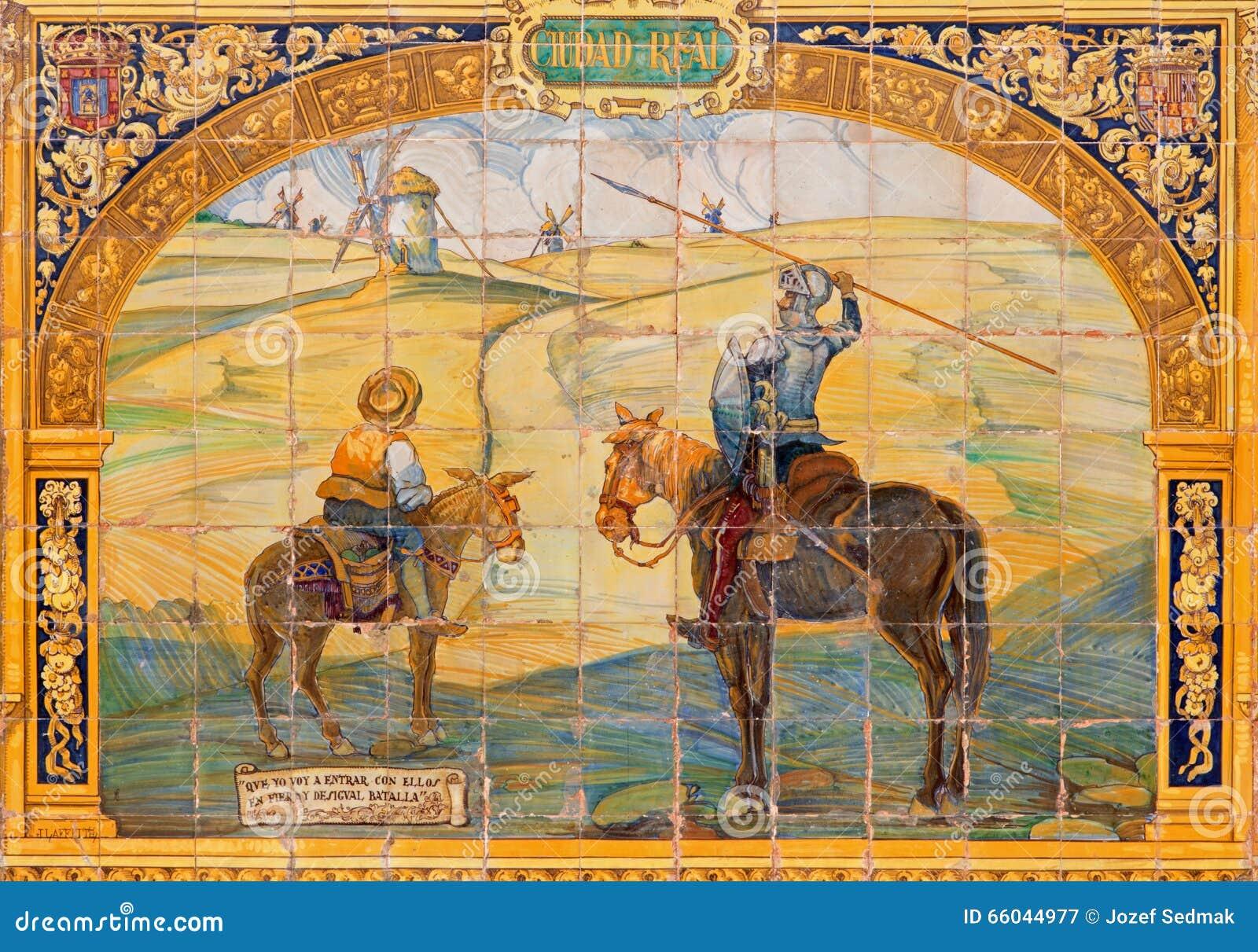 Sevilla Don Quijote Sancho Panza Und Die Windmuhlen Plaza De