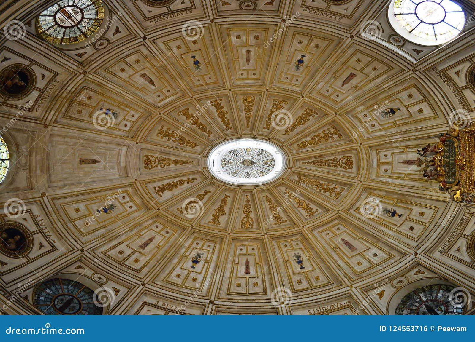 Seville Cathedral Interior ceiling detail of Renaissance vault