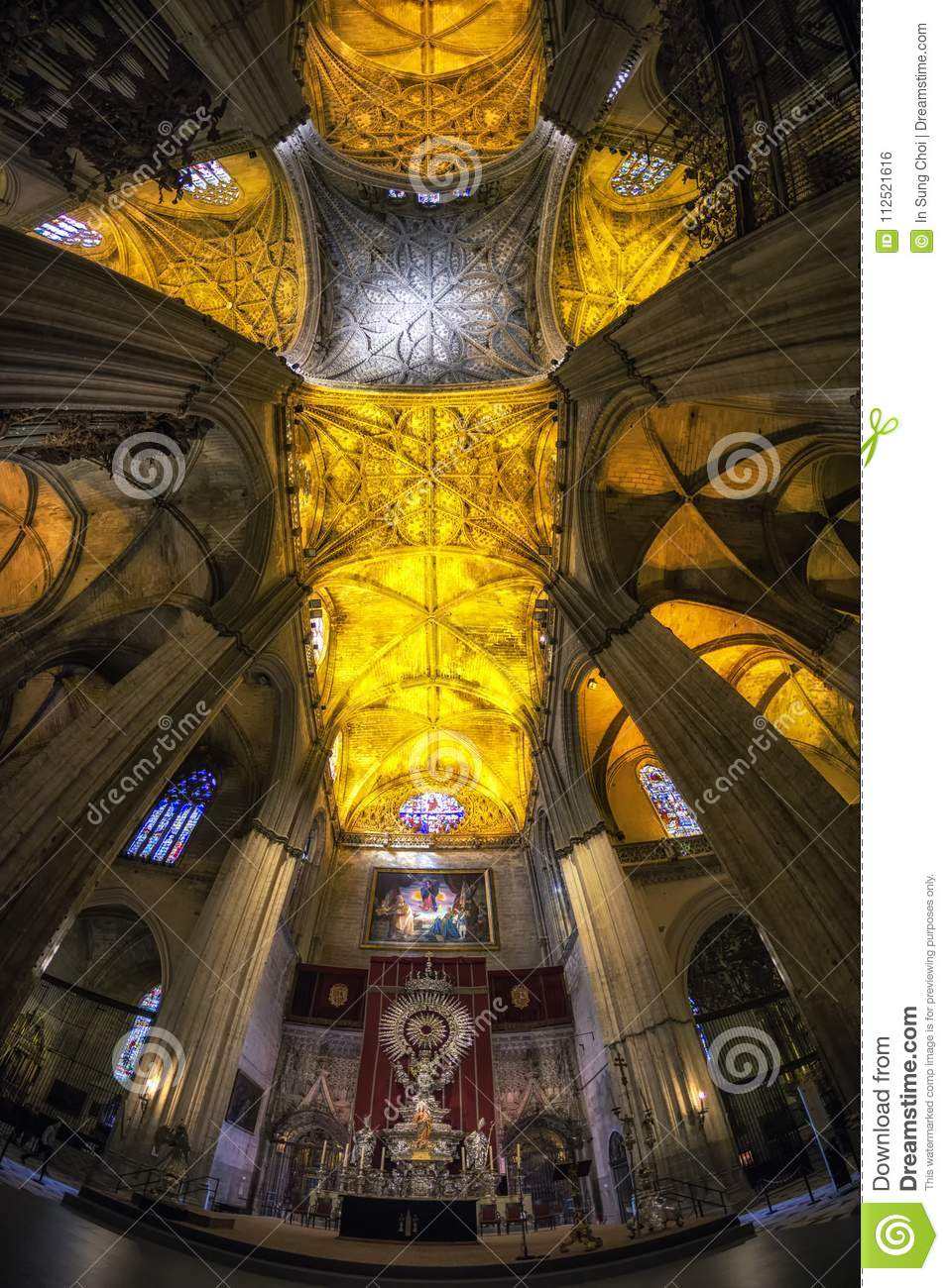 Seville cathedral interiors
