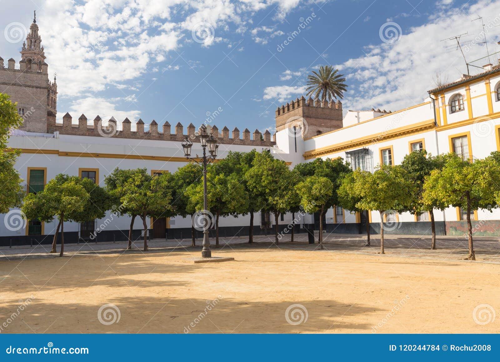 Seville Spain Architecture Barrio Santa Cruz District Stock Photo