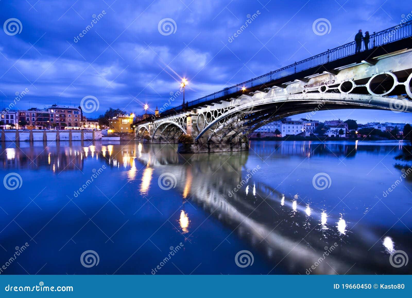 Sevillie, romantic panorama of the riverside