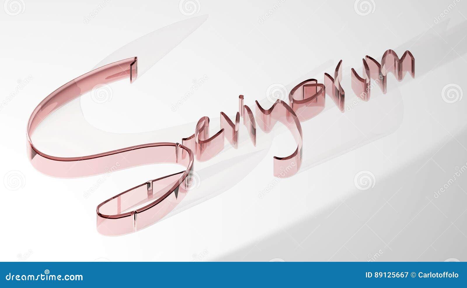 Seviyorum` - I Love You - 3D Rendering Stock Illustration