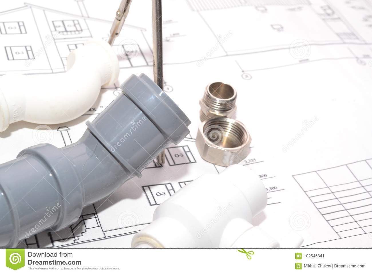 Sewerage And Water Supply Stock Image Of Plan 102546841 How To Install A Toilet Plumbing Diagram Help Faucets Connect