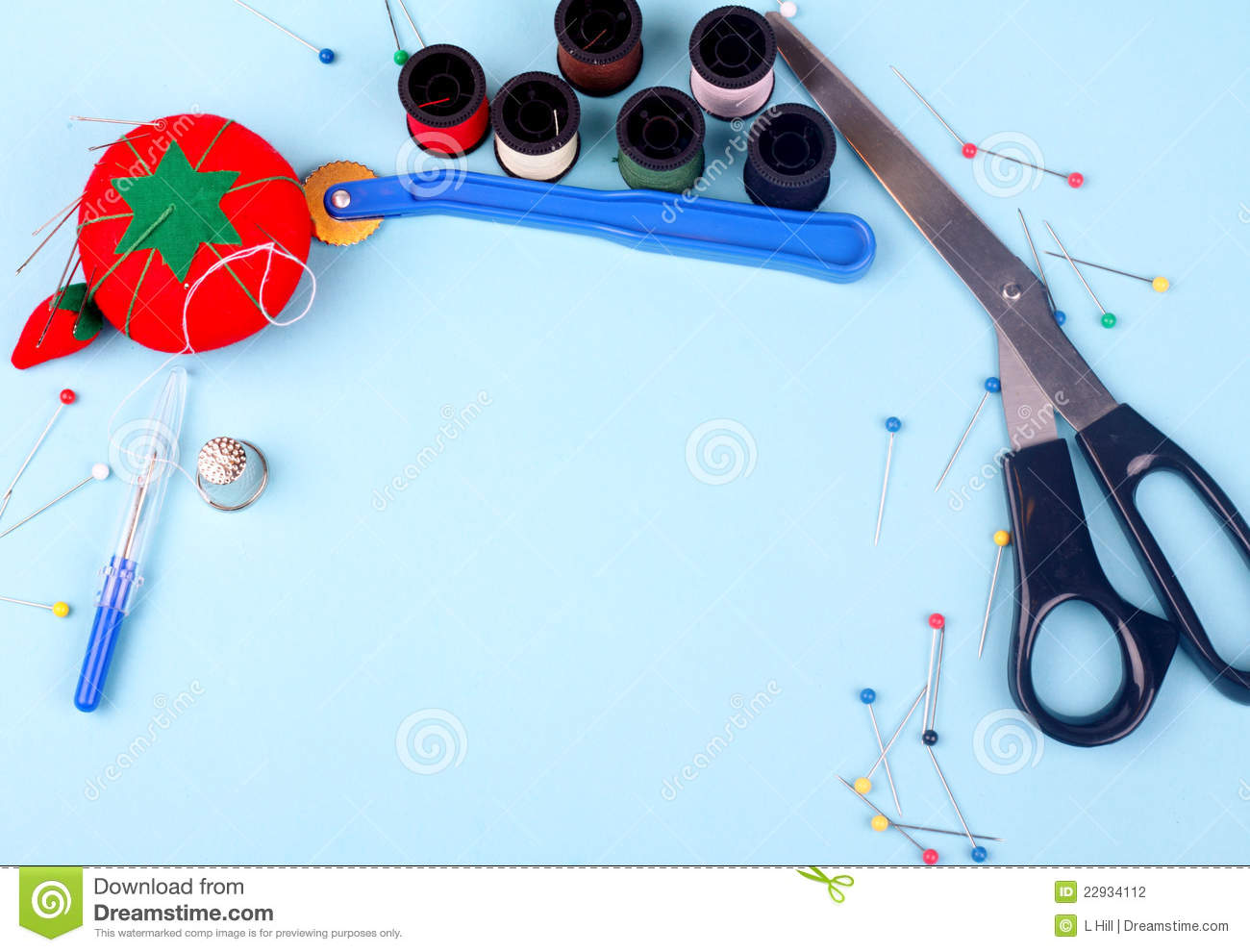 Sewing Border Stock Photo Image Of Colorful Material