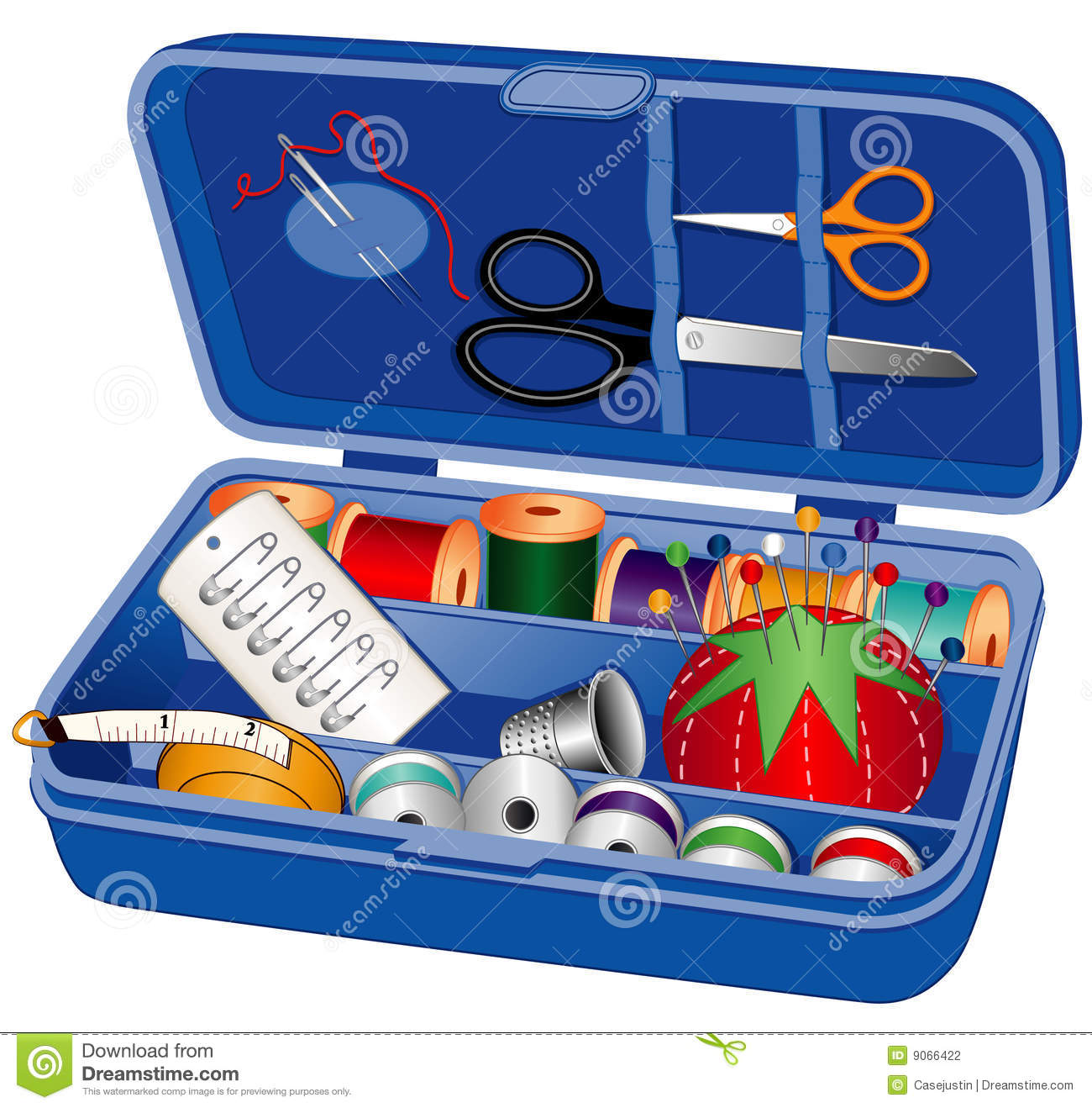 Sewing Box With Sewing Supplies Stock Photography Image