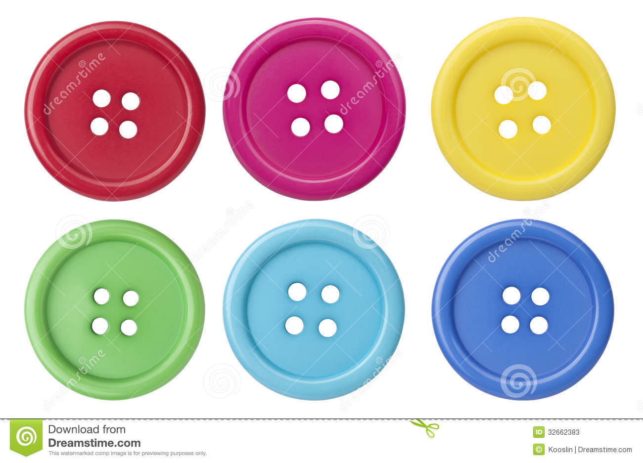 Sewing Buttons Stock Photos - Image: 32662383