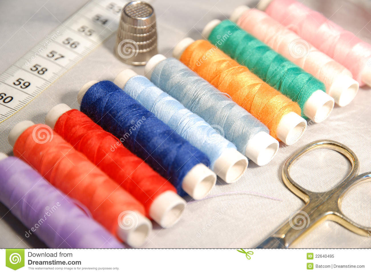 Sewing equipment stock image. Image of clothing, sewing ...