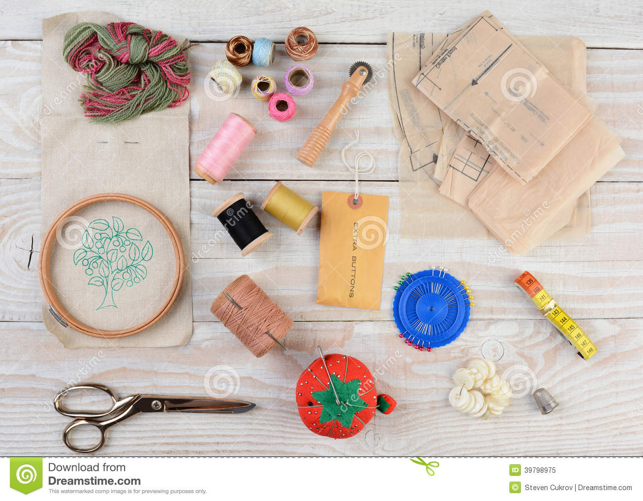 Sewing Equipment Stock Image Image Of Cussion Thread 39798975