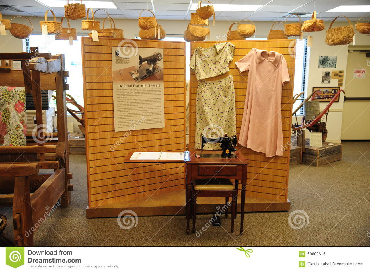 Sewing exhibit at the West Tennessee Delta Heritage Center