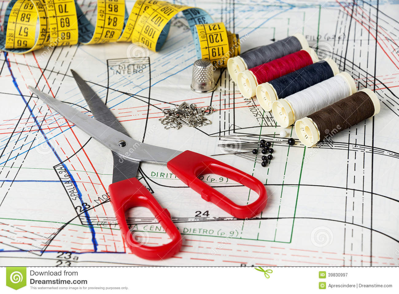 Sewing Kit Stock Image Of Fabric Colors Embroidery 39830997 Schematic Maker Jam And Jelly Diagram In