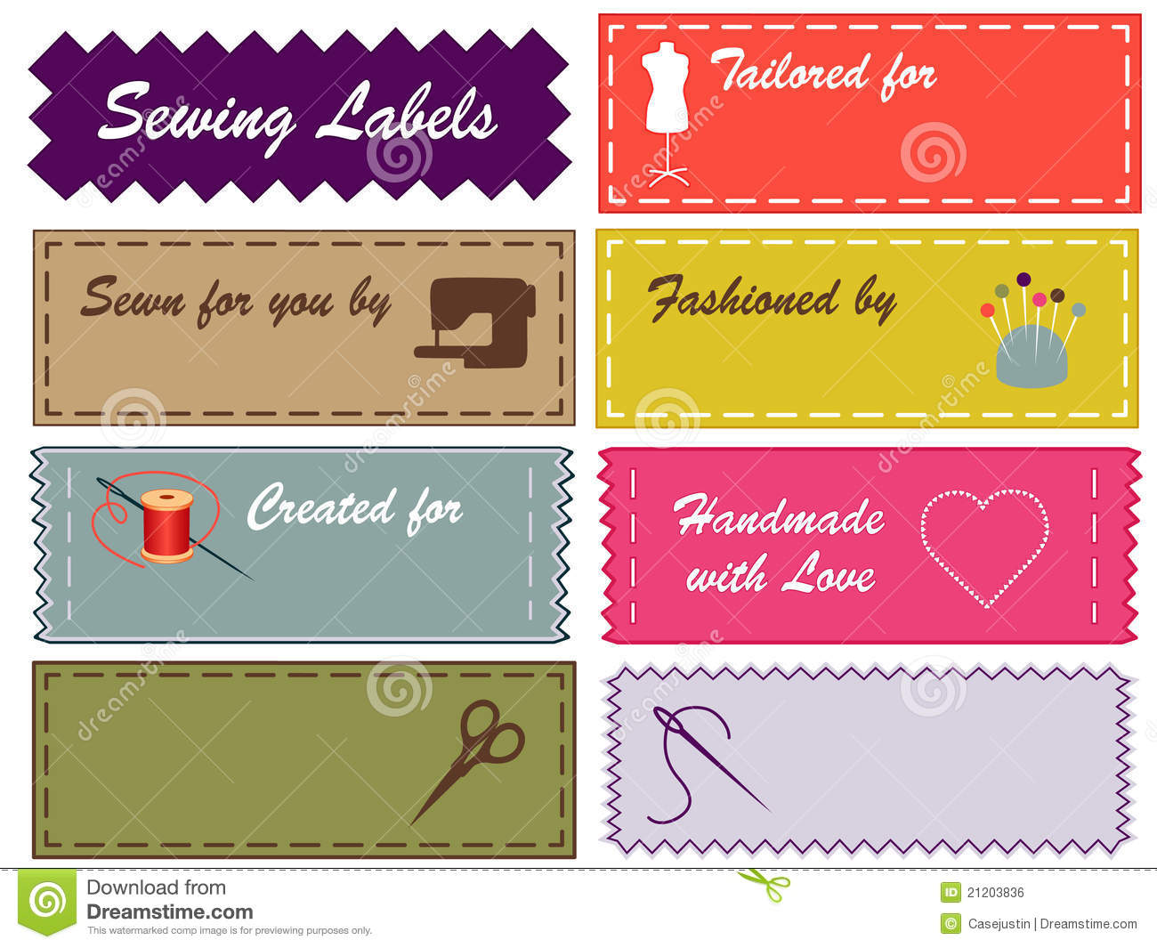 sewing labels pantone colors royalty free stock image image