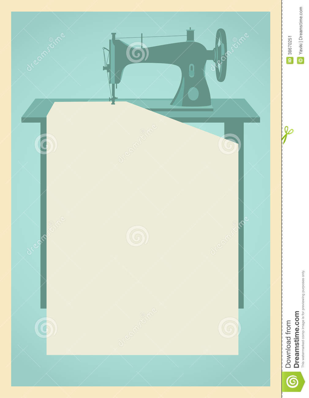 Sewing Machine Background Stock Image Image 38670251