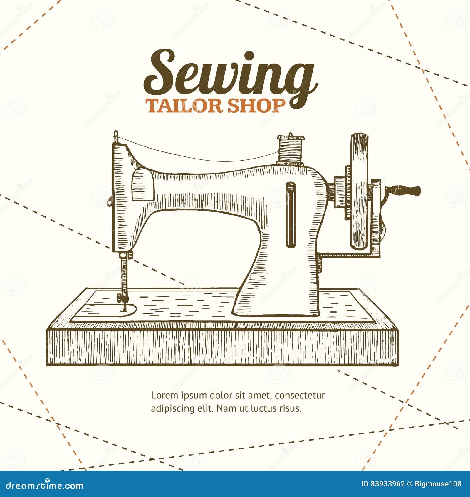 Sewing machine banner card hand draw sketch vector stock vector sewing machine banner card hand draw sketch vector magicingreecefo Image collections
