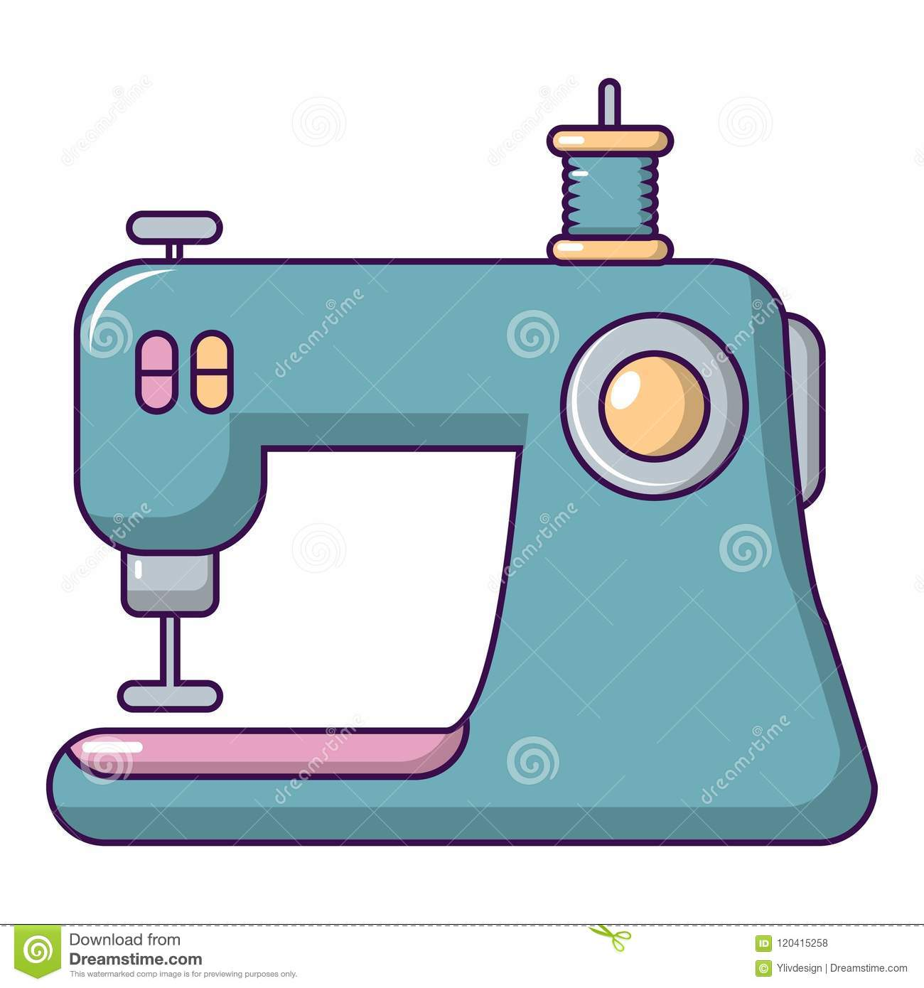 Sewing Machine Icon Cartoon Style Stock Vector Illustration Of