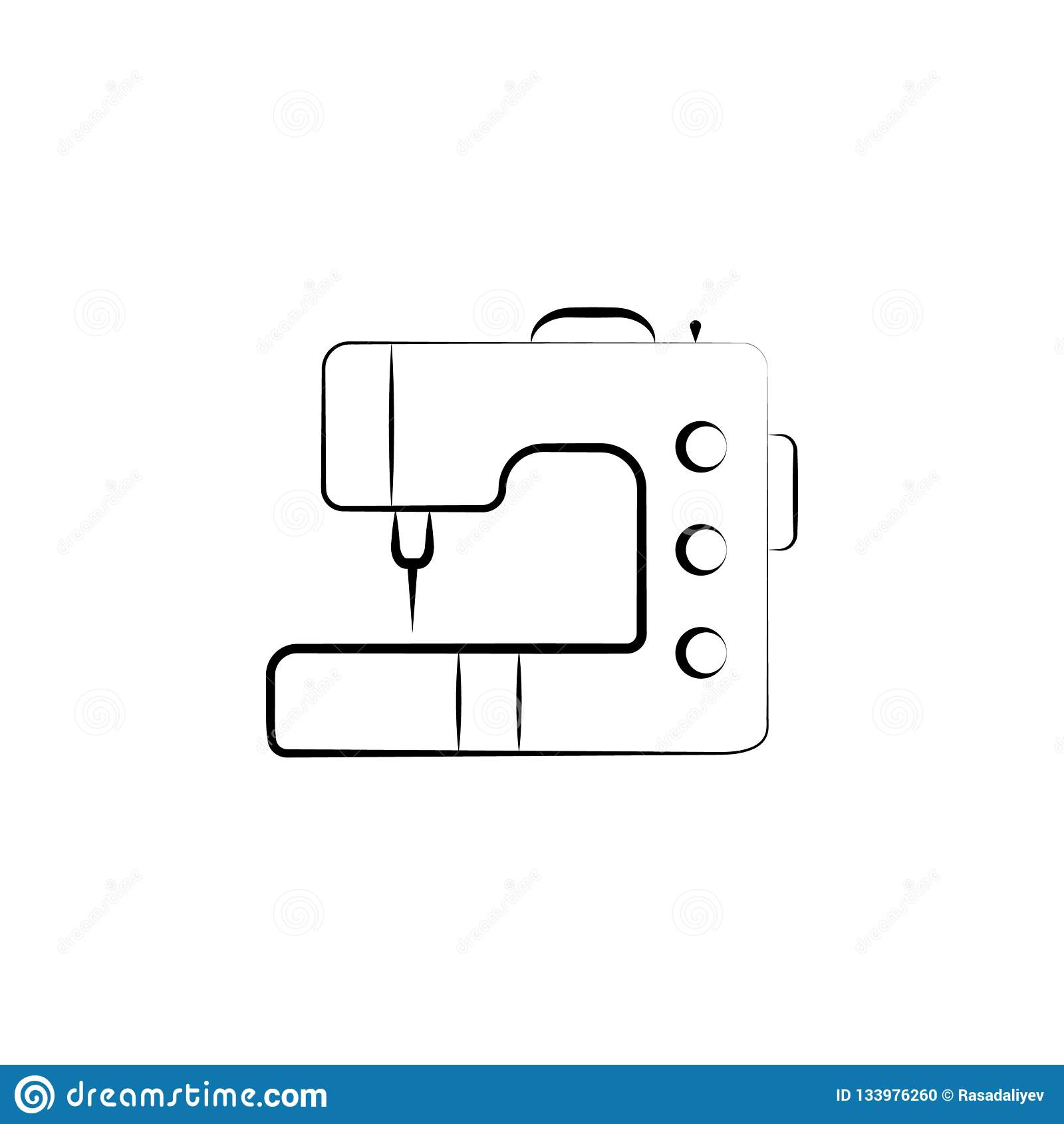 Sewing Machine Icon Element Of Art And Craft Icon Thin Line Icon