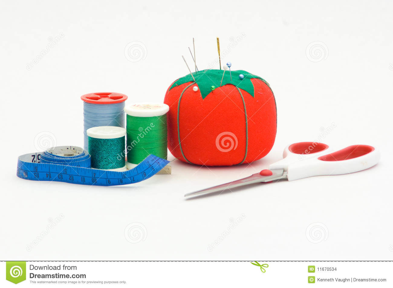 Sewing materials stock photo image of isolated measure for Sewing materials