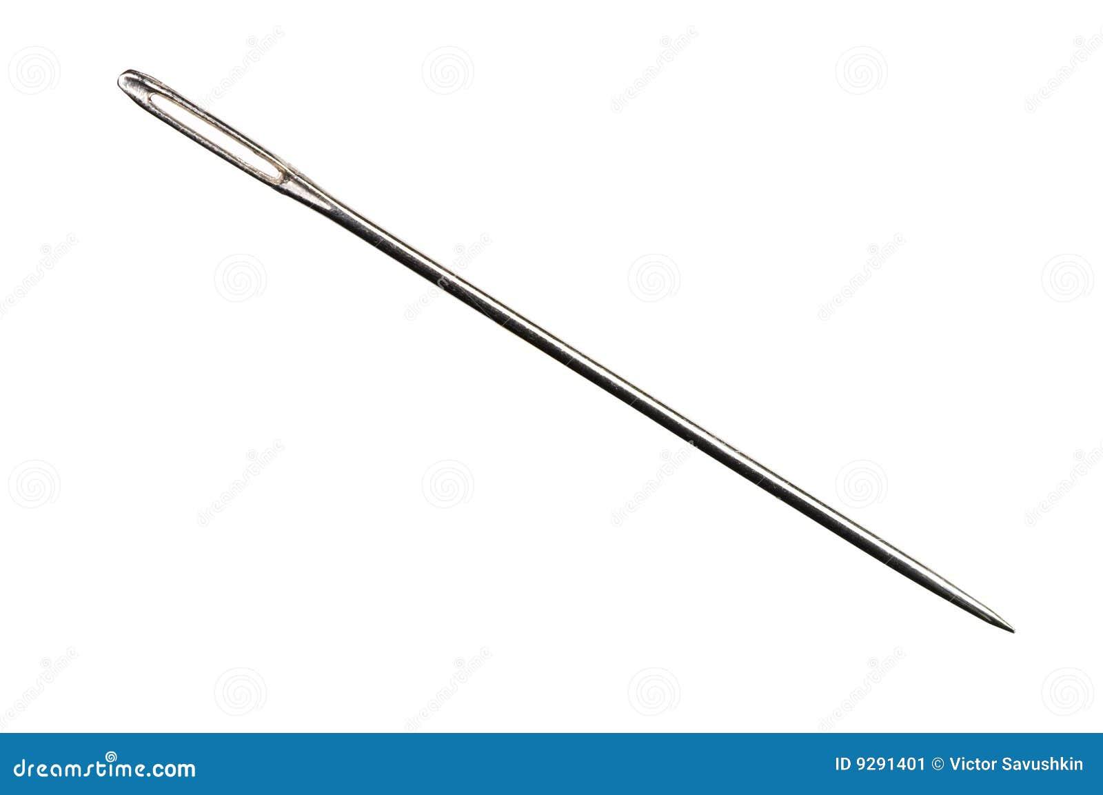Sewing needle isolated on white background