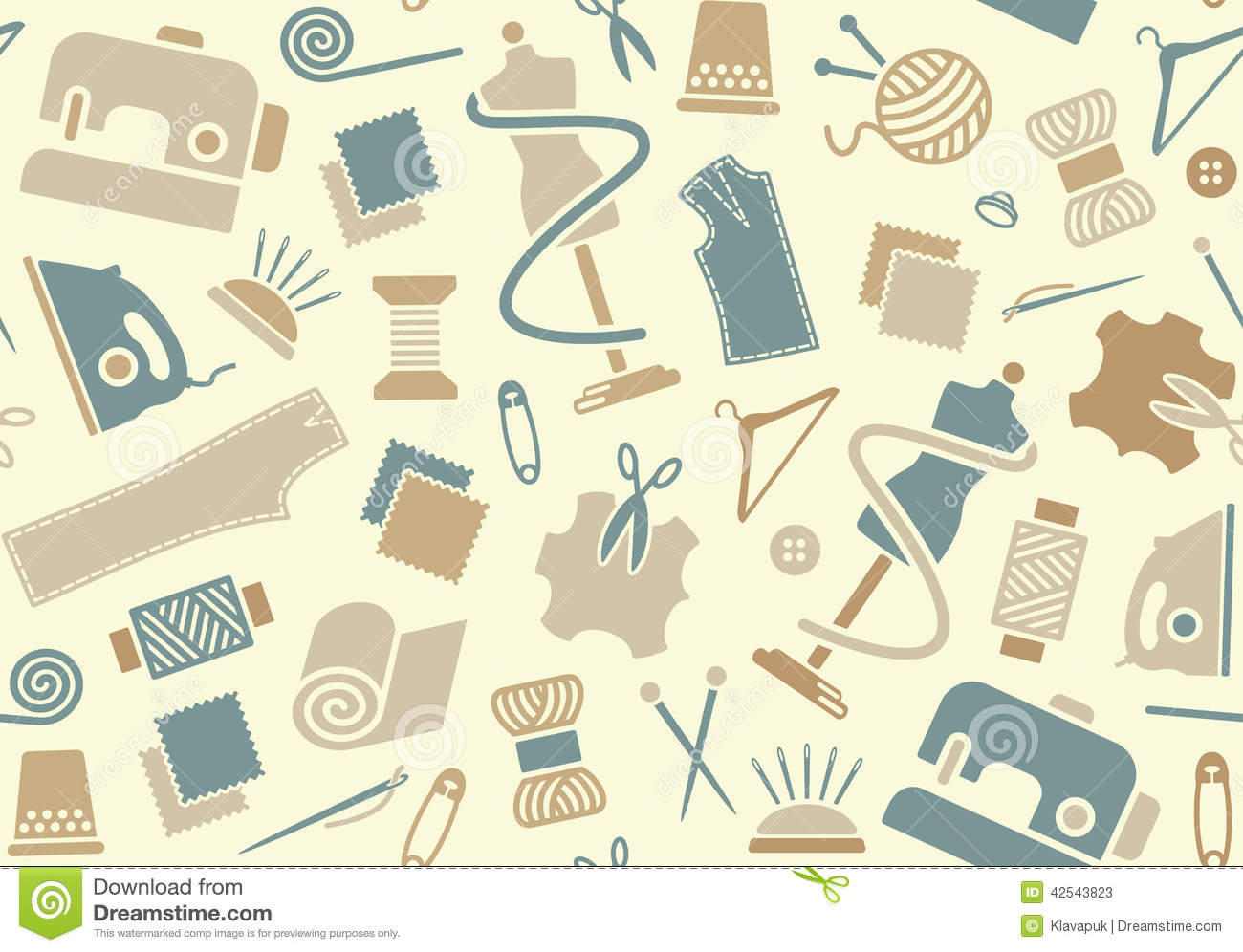 Sewing and needlework background stock vector image 42543823