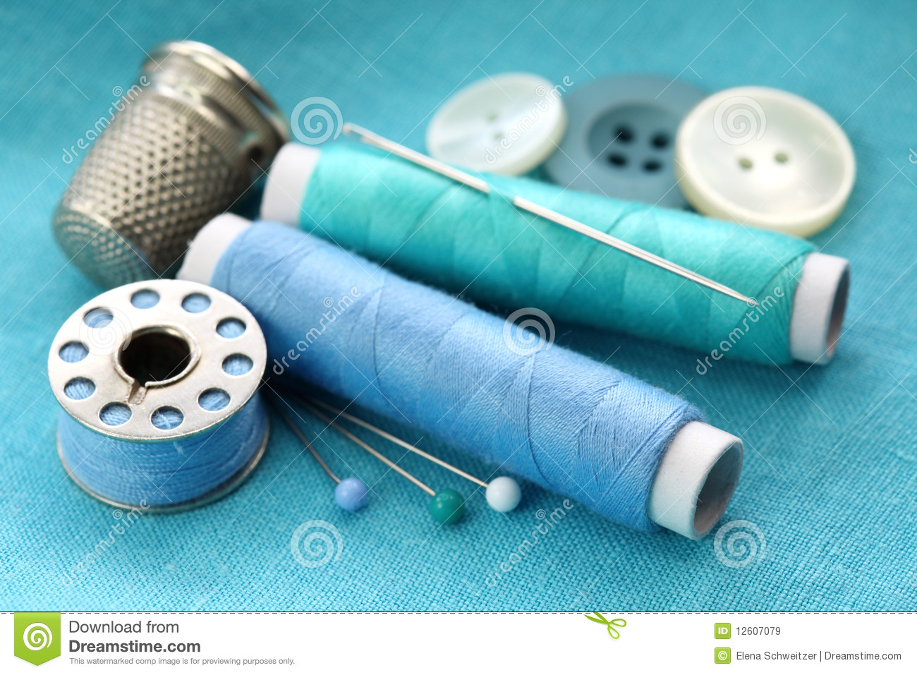 Sewing Stuff Royalty Free Stock Images - Image: 12607079