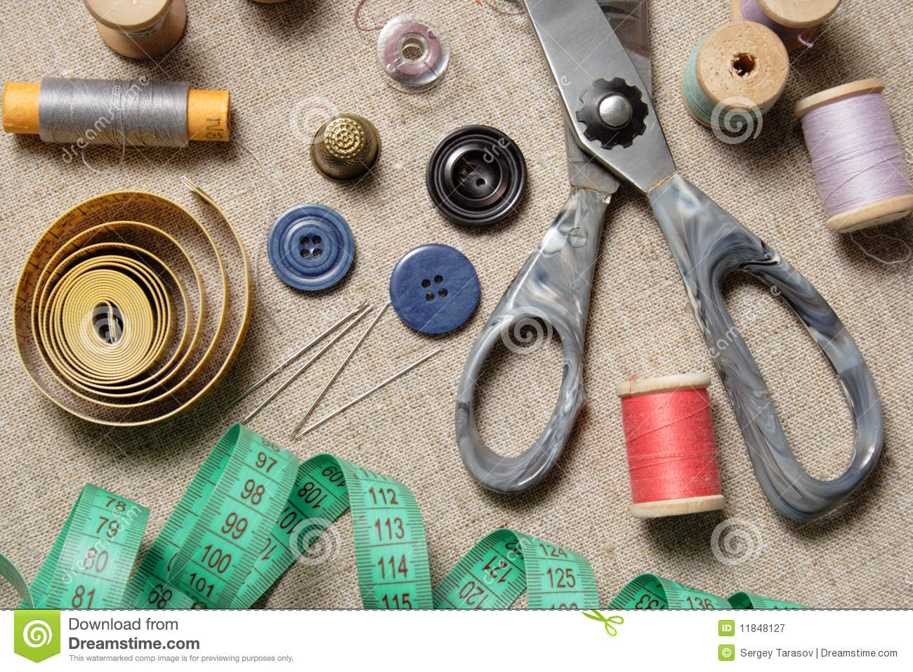 Sewing supplies royalty free stock photography image for Sewing materials