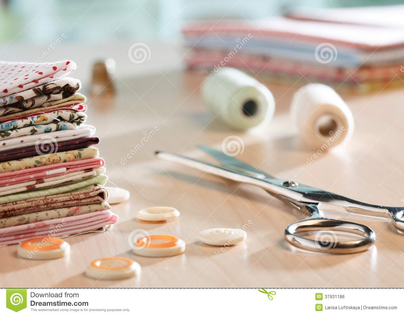 Sewing supplies stock photography for Sewing materials