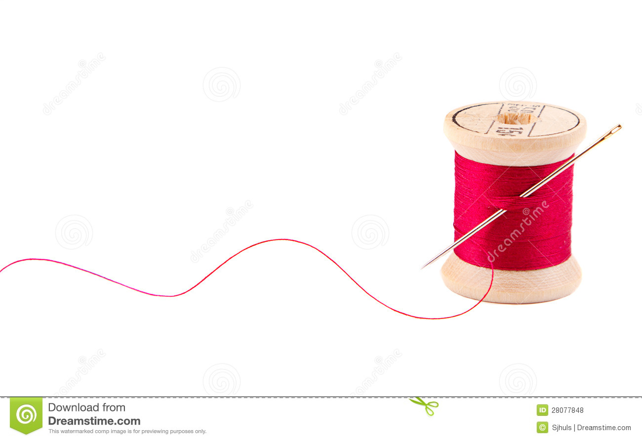Sewing Thread And Needle Royalty Free Stock Photos  Image