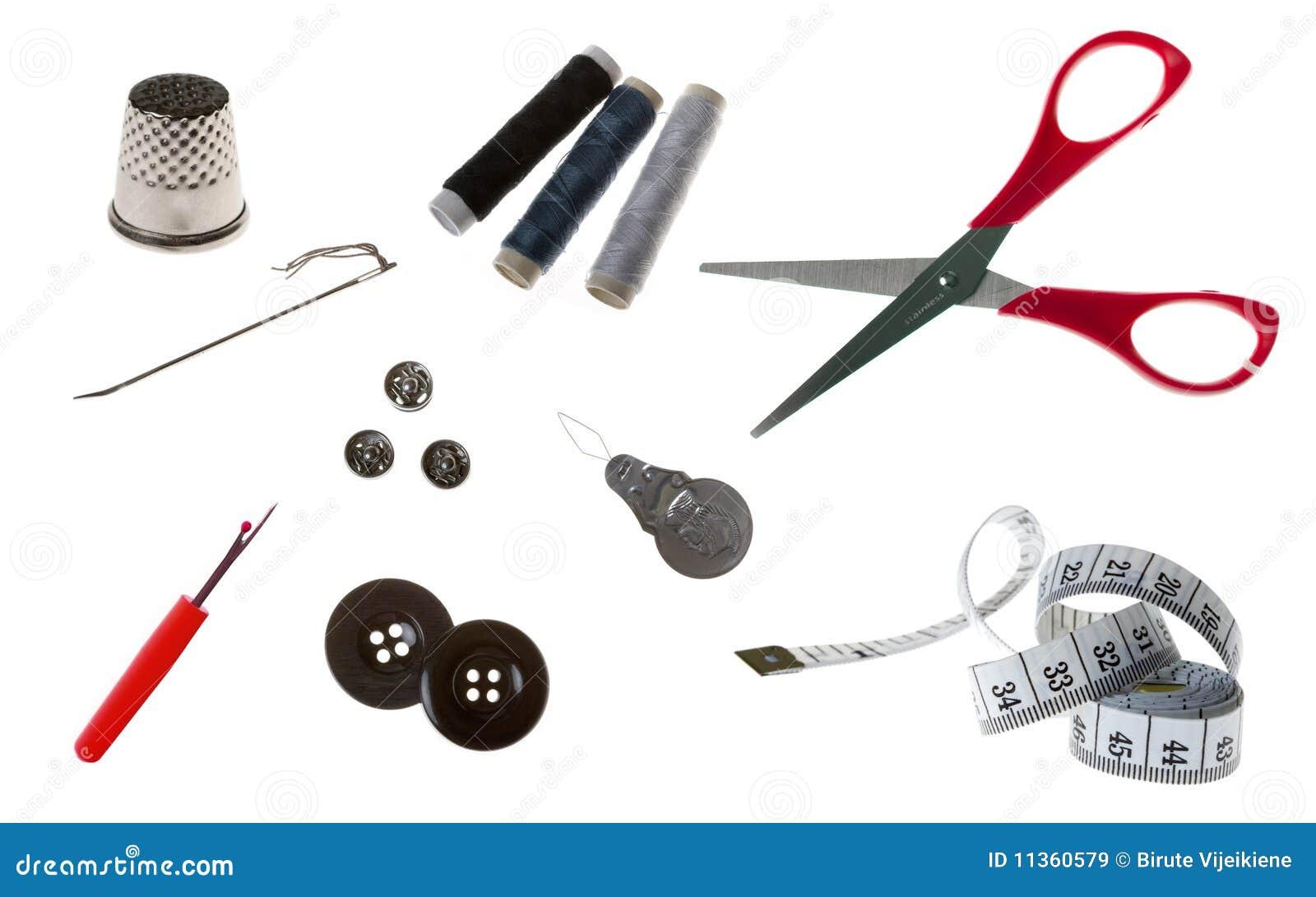 Инструменты и материалы по шитью