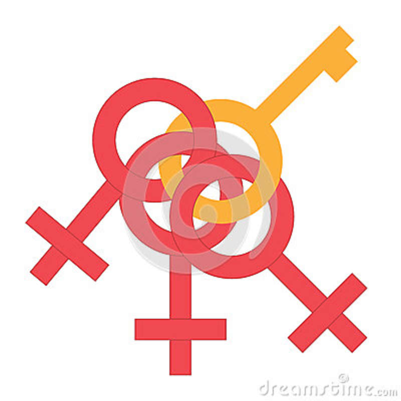 Sex Money Cling Symbol Gender Man And Woman Connected Symbol Male