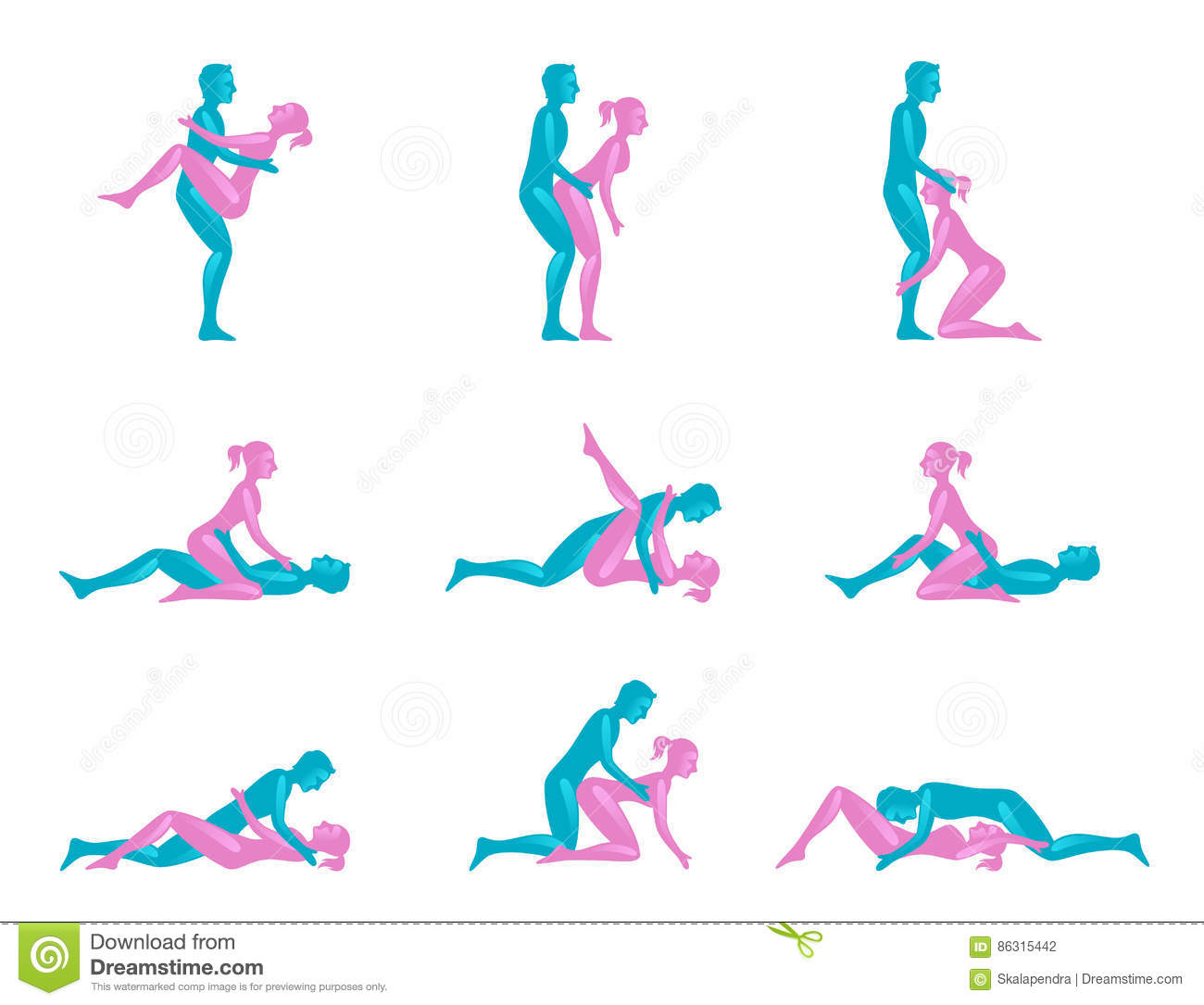 Sex position images royalty free