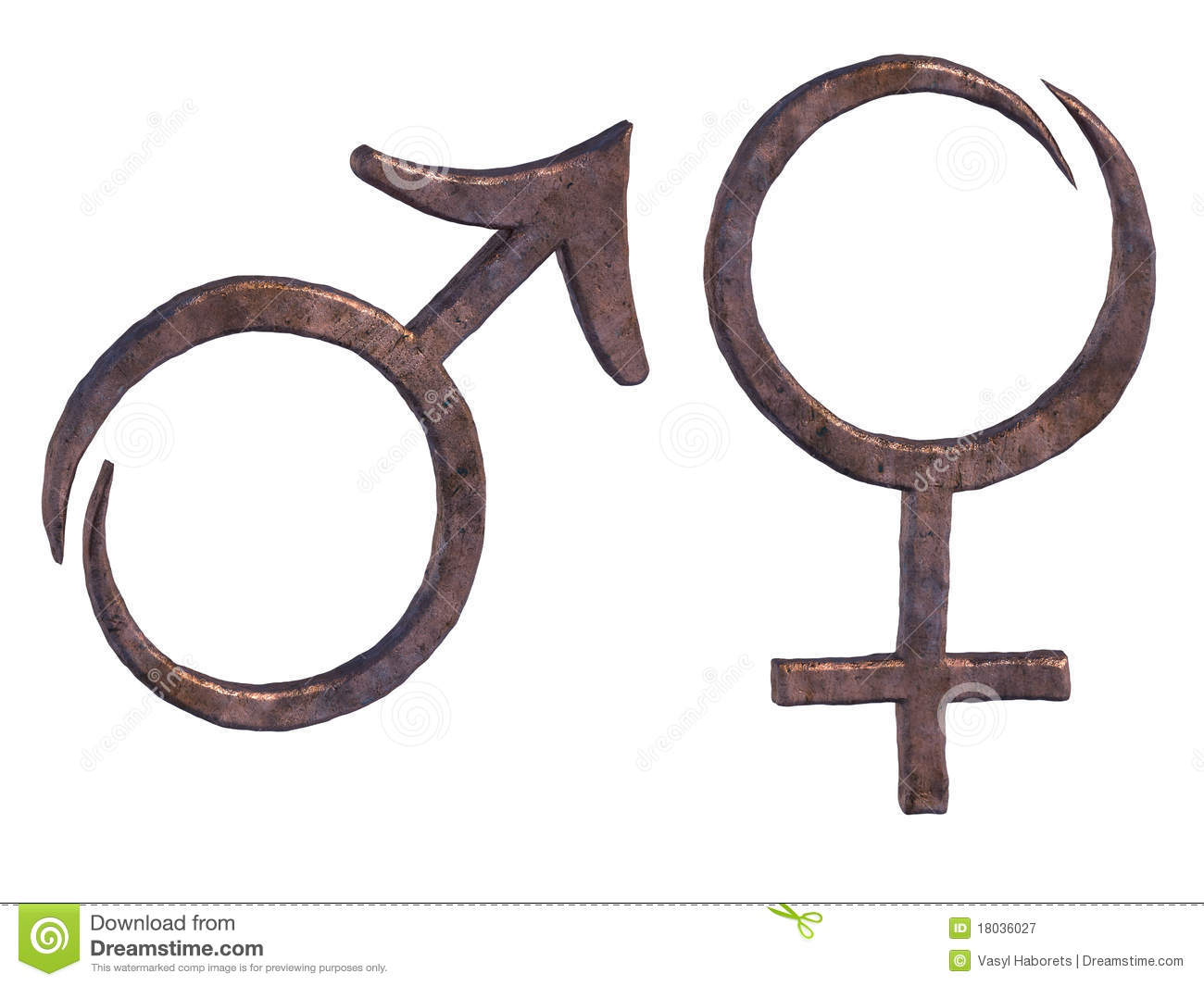 ... symbols of male and female, symbols of Mars and Venus. Gender signs