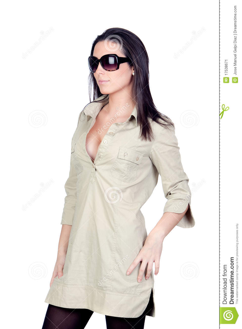 sexi girl with sunglasses stock image. image of long - 17538671