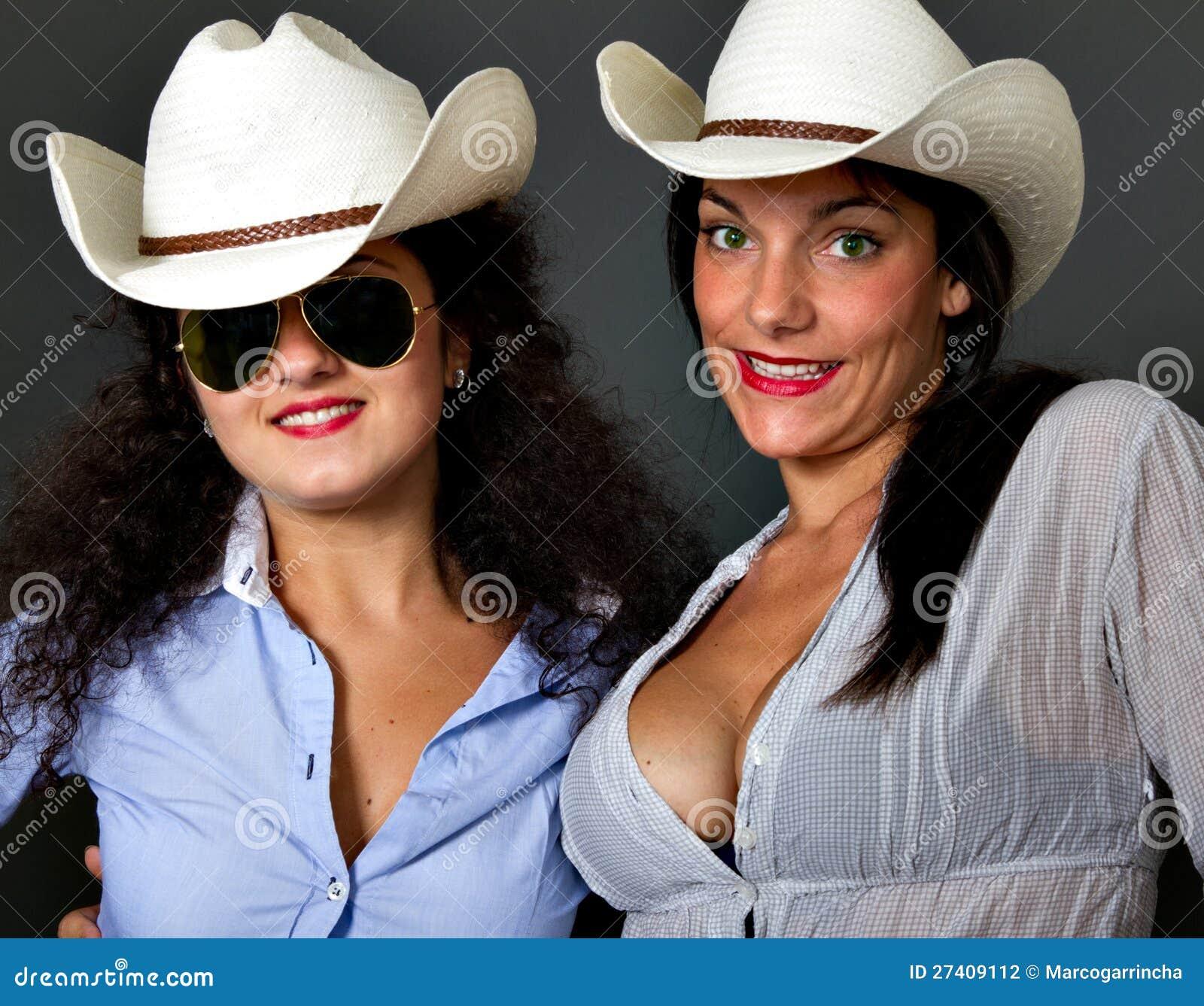 Sexig kopojke med hatten