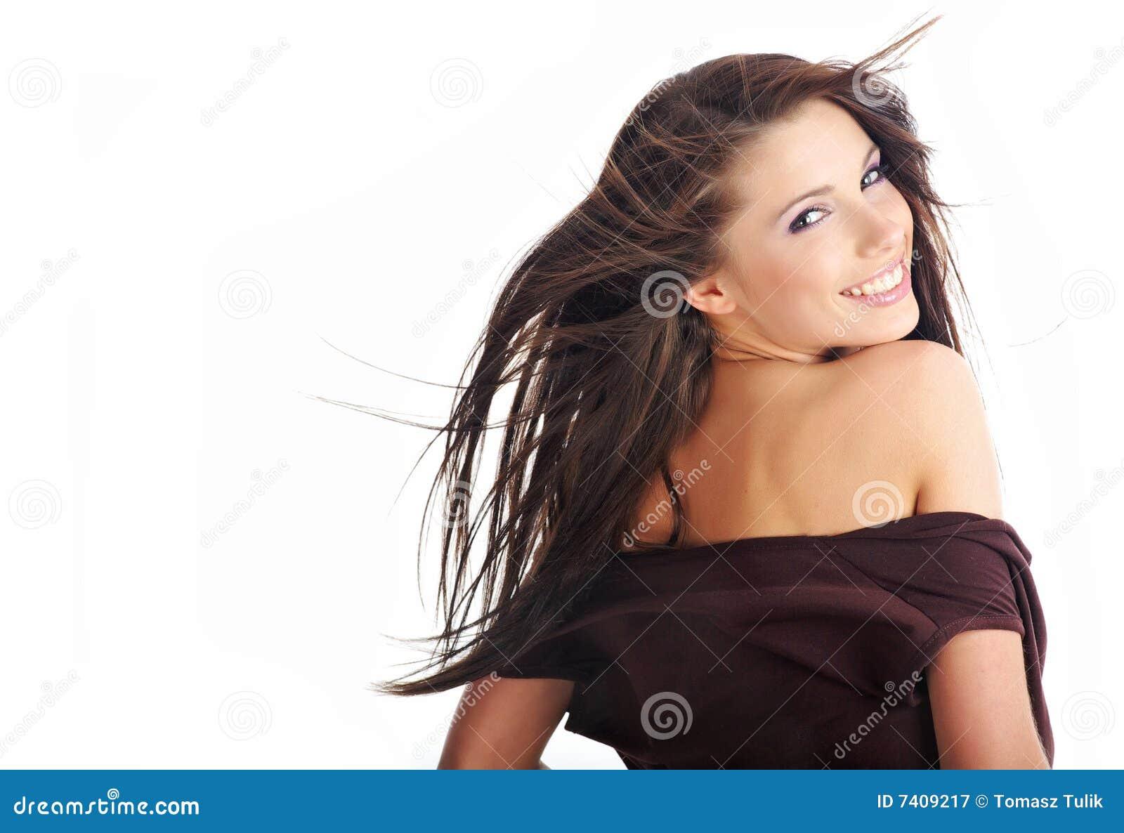 Sexig kvinna för glamourstående