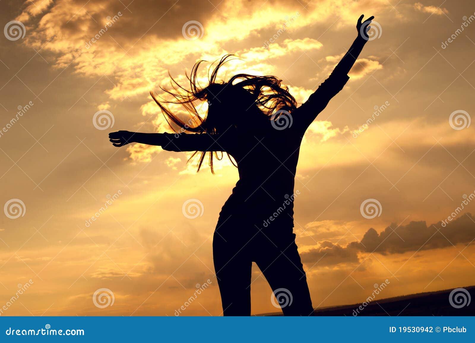 Sexig kvinna för härlig dans