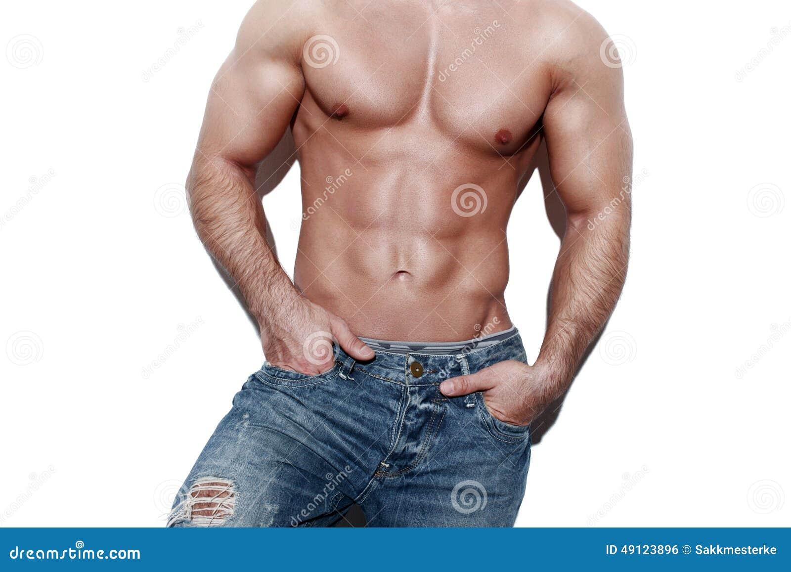 Sexig muskulös mankropp