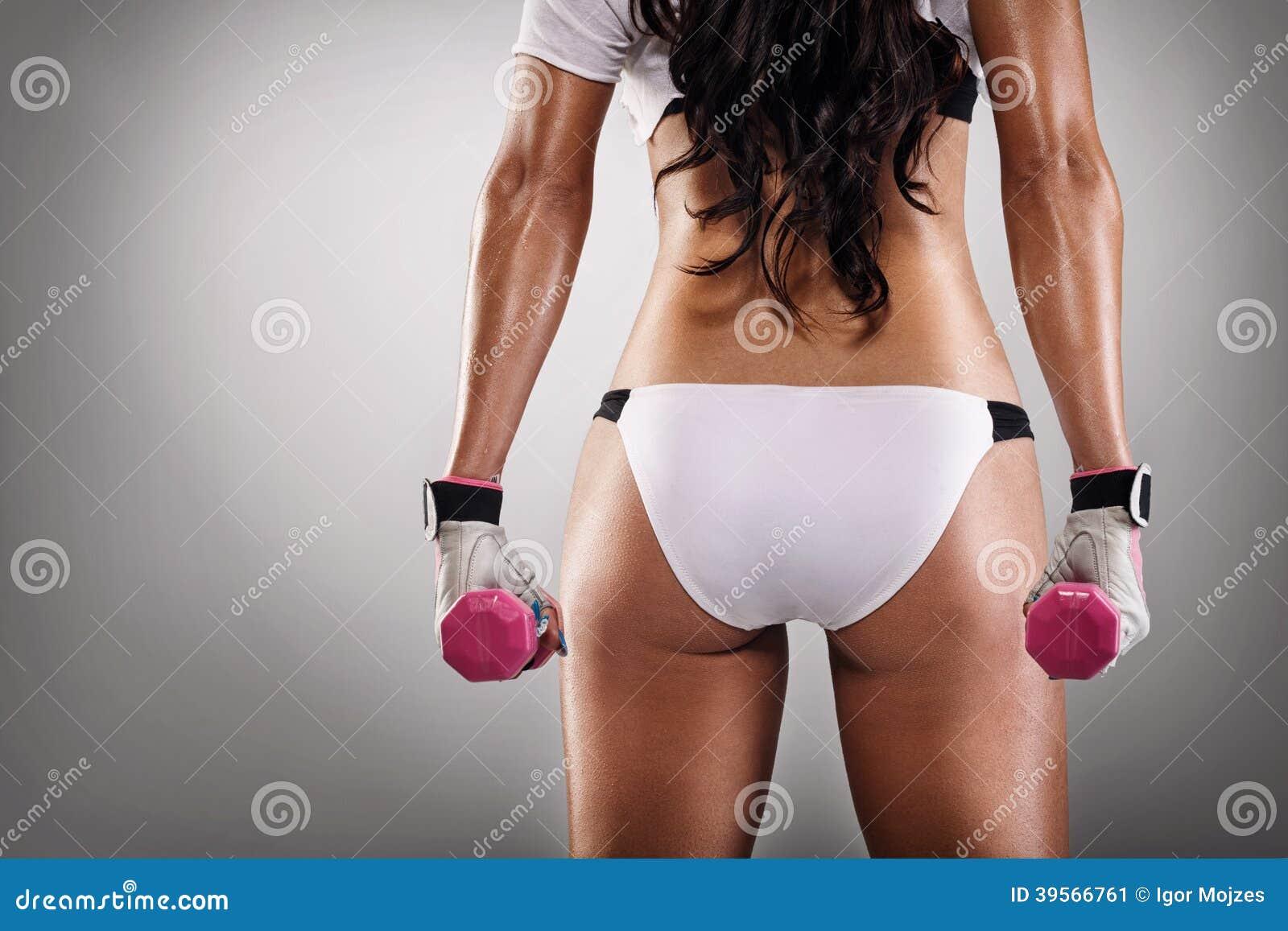 Sexig röv av idrottskvinnan