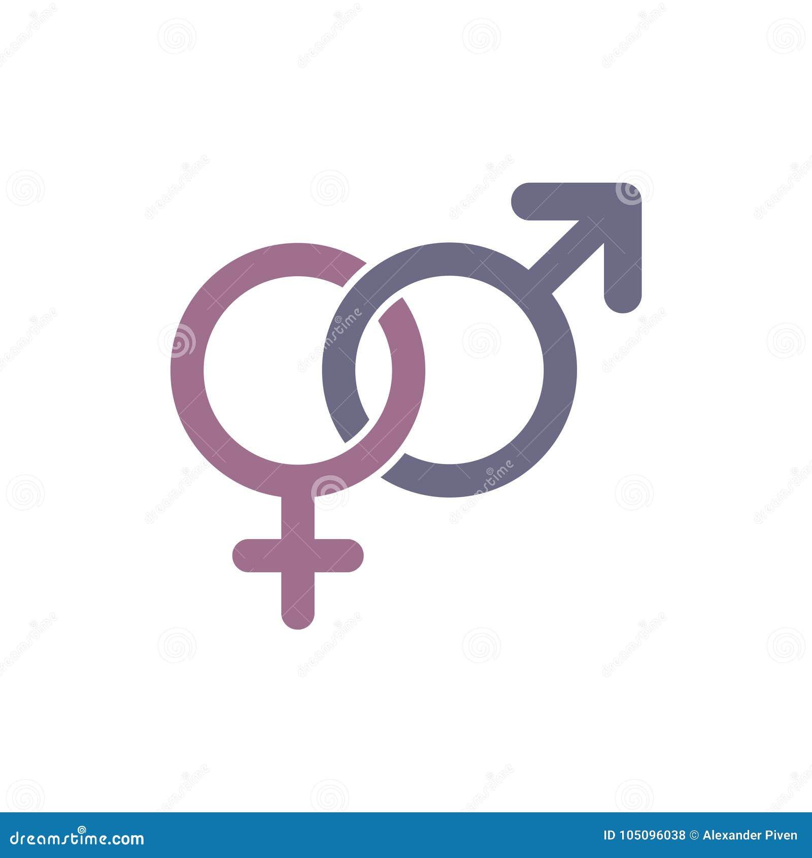 Sexikone Geschlechtszeichen Männliche und weibliche Symbole