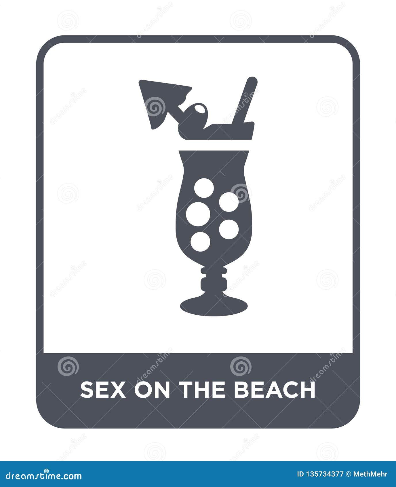 Sexo en el icono de la playa en estilo de moda del diseño sexo en el icono de la playa aislado en el fondo blanco sexo en el icon