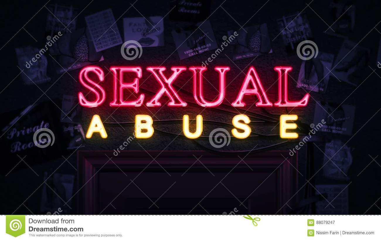 Sexual Abuse Neon Sign Turning On And Off Above A Door Stock Video - Video: 88079247 & Sexual Abuse Neon Sign Turning On And Off Above A Door Stock Video ... Pezcame.Com