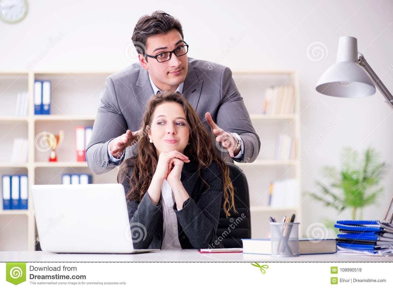 Man to woman sexual harassment