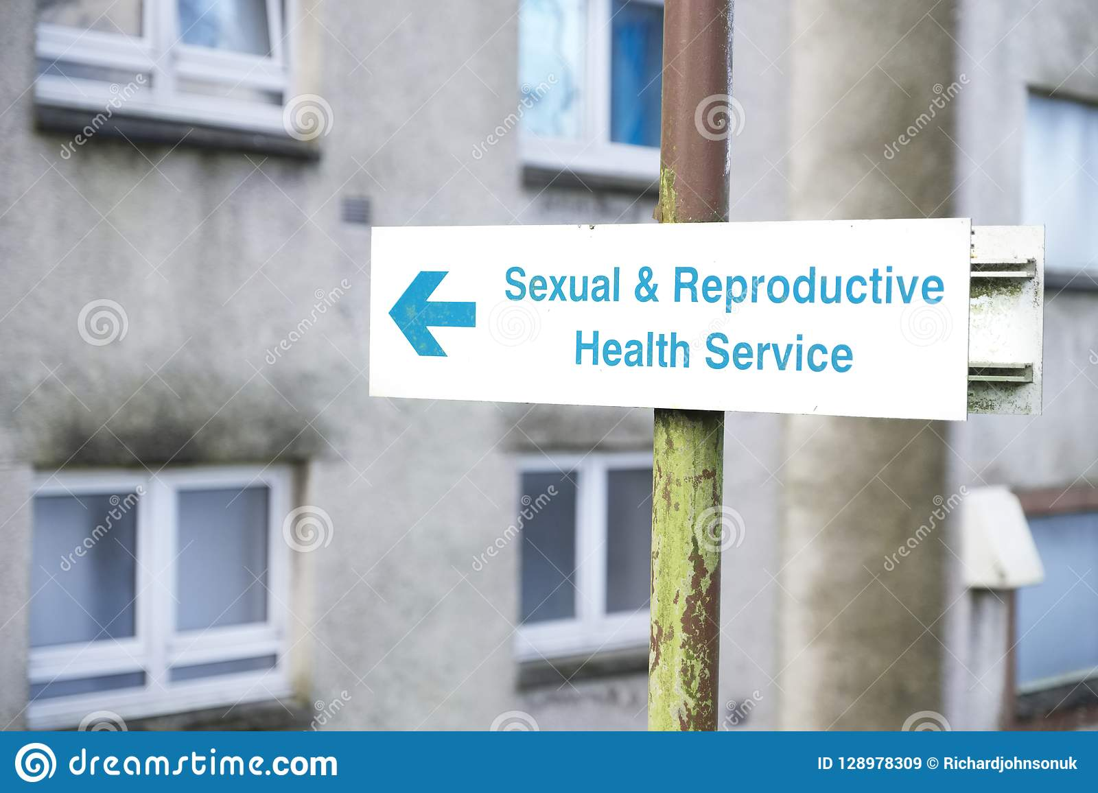Sexual and reproductive health centre sign
