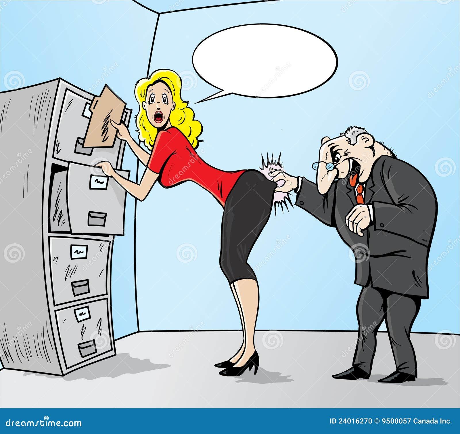Sexuelle Belästigung Stockfoto - Bild: 24016270