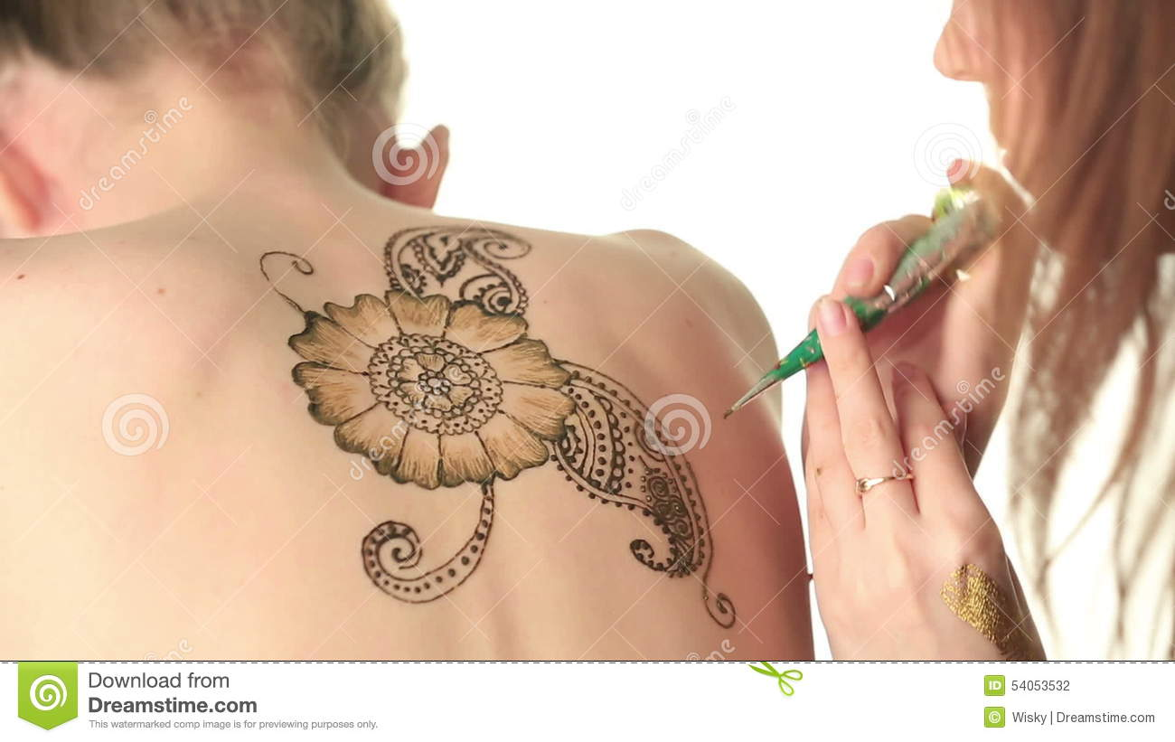 Art Of Drawing On Body. Mehndi Stock Footage , Video of