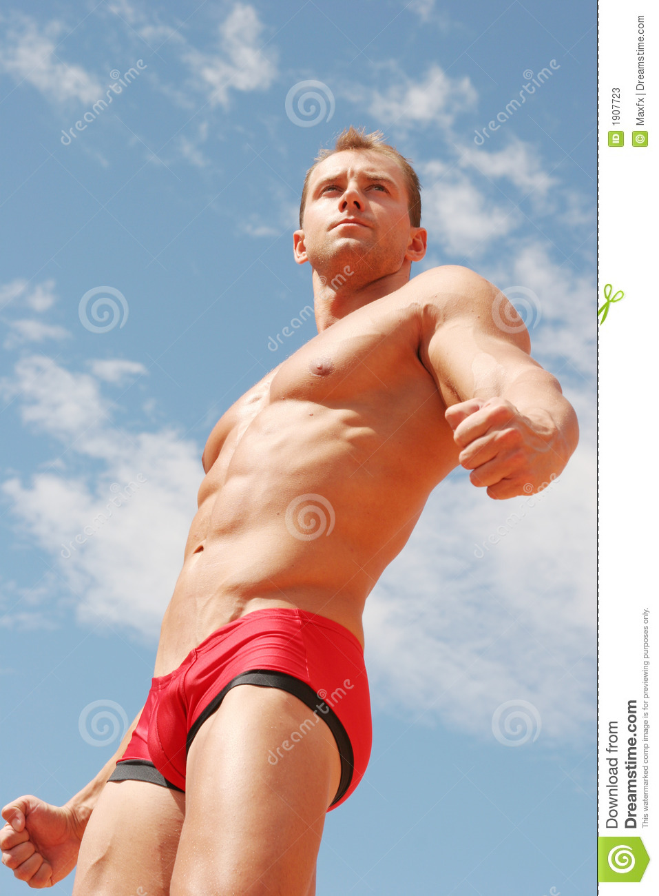 Sexy Athletic Handsome Man - Washboard Abs Stock