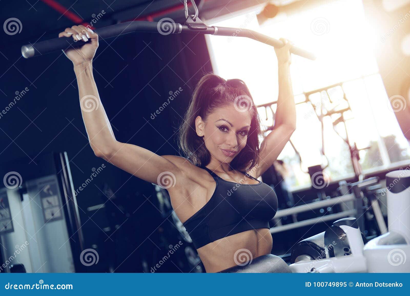 Naked black athletic women