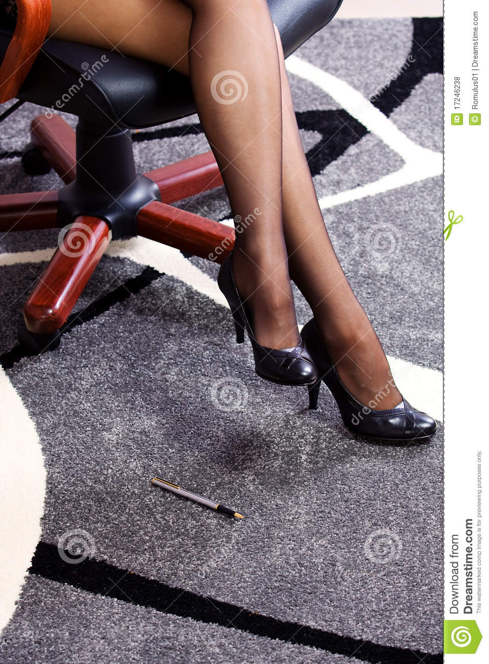 and attractive business woman legs