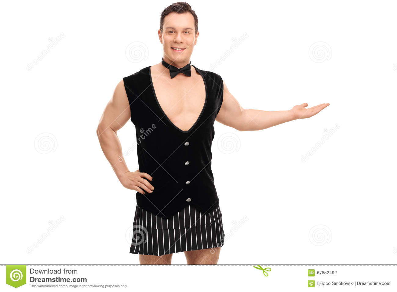 Bartender In A Vest And An Apron Stock Photo - Image: 67852492