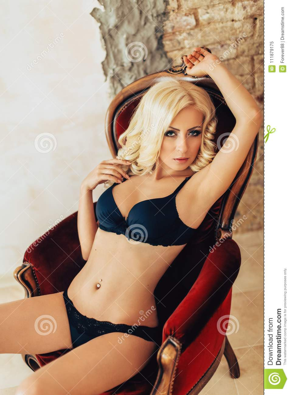 d9573b7c3 Portrait Of Beautiful Young Woman With Makeup Stock Image - Image of ...
