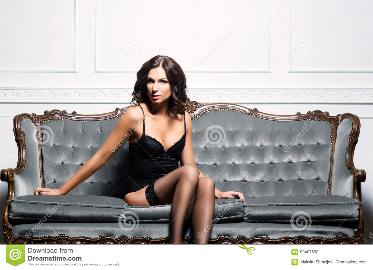 Awesome Sexy Beautiful And Seductive Woman In Erotic Lingerie And Cjindustries Chair Design For Home Cjindustriesco